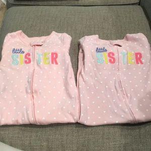 Little sister carters onesie's